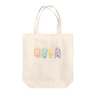 少女AからD Tote bags