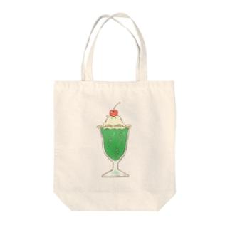 メロンクリームソーダコ Tote bags