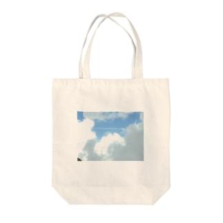 青空と雲 Tote bags