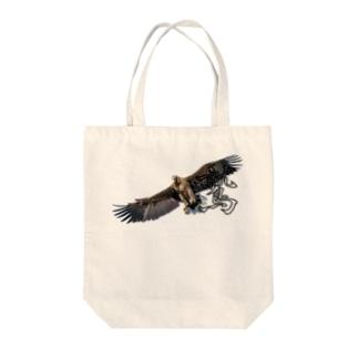 大空を羽ばたく鷲! Tote bags