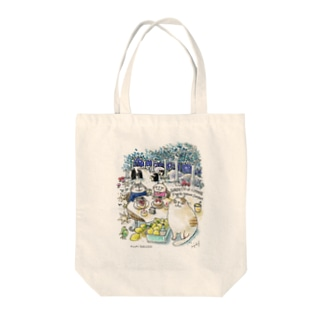 CatChips森のカフェ Tote bags