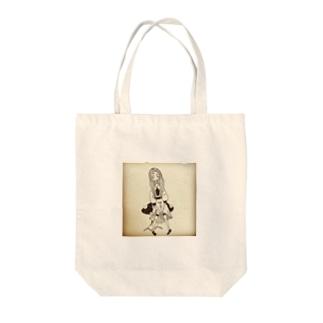 ghost girl on the mushroom Tote bags