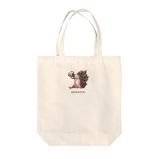 カカオハリネズミちゃん Tote bags