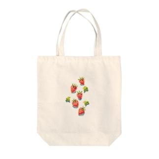 イチゴころり・・・ Tote bags