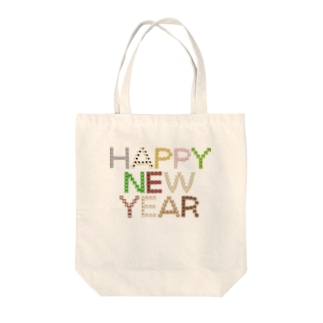 干支文字-十二支-HAPPY NEW YEAR-animal up-アニマルアップ- Tote bags