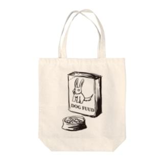 うさぎのはず(黒線) Tote bags