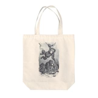 The British Library - Chimpanzee and orangutan Tote bags