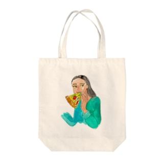 ピザ姉さん Tote bags