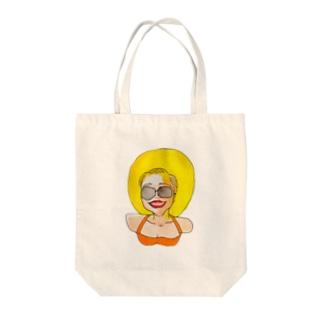 サンシャイン姉さん Tote bags