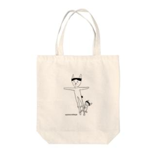 シンクロkasイラスト Tote bags
