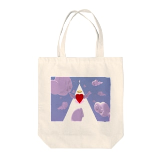 Angel Road Tote bags