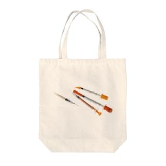 注射器(マイジェクター/トップ)風 Tote bags