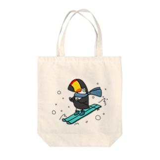 スキーヤー Tote bags