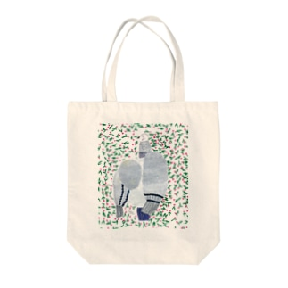 花に埋もれる鳩 Tote Bag