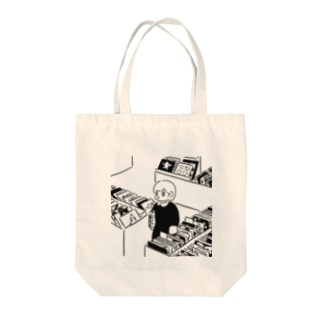 レコード店 Tote bags