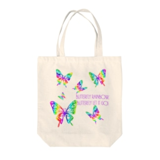 BUTTERFLY RAINBOW Tote bags