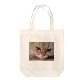 愛猫モモのどアップ画! Tote bags