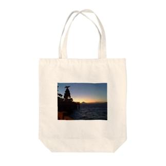 江ノ島から富士山を望む。 Tote bags