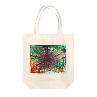 FIRE CRACKER Tote bags