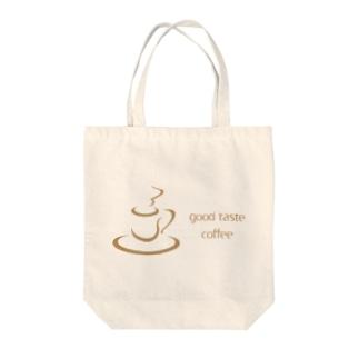good taste coffee Tote bags