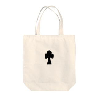 Aけん玉黒 Tote bags