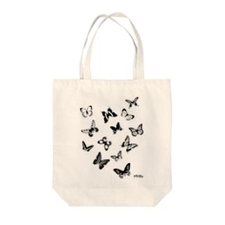 飛び交う蝶々 Tote bags