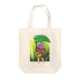 ヒカリノアメ Tote bags