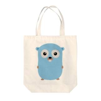 Gopher front Tote bags