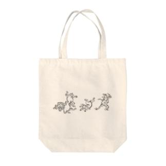 鳥獣戯画五人衆 Tote bags