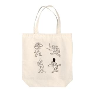鳥獣戯画四人衆 Tote Bag