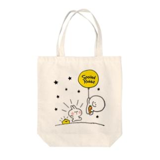 Spoiled Rabbit - Balloon / あまえんぼうさちゃん - 風船 Tote bags