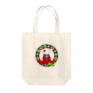 うさぎと手毬 Tote bags