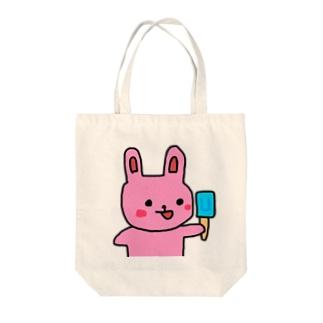うさぎのうーちゃん Tote bags