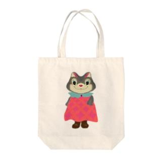 ふんわりワンピースのクウちゃん Tote bags
