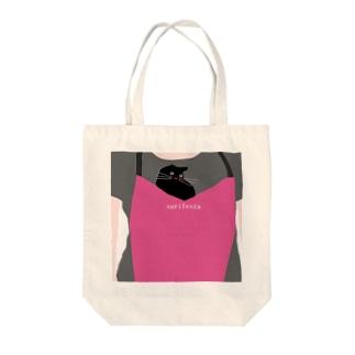 cat_in_apron Tote bags