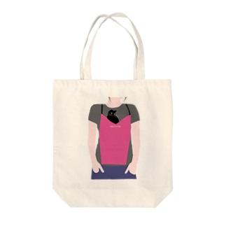 cat_in_apron_01 Tote bags
