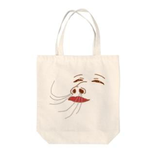 空気が気持ちいい時の顔 Tote bags