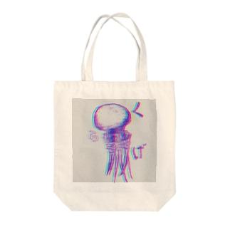 タコクラゲトート Tote bags