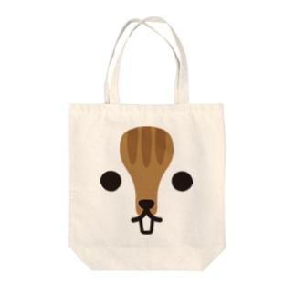 リス-animal up-アニマルアップ- Tote bags