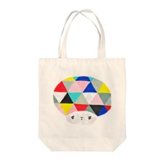 カラフルお顔 Tote bags