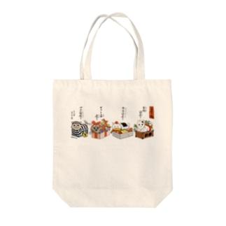 箱座り猫 Tote bags