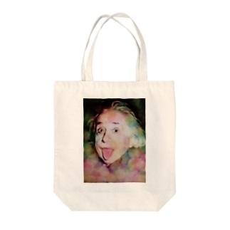 親愛なるアインシュタインた Tote bags