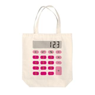 電卓ピンク Tote bags