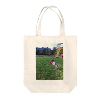 濃い顔ジャックのフリスビーキャッチ Tote bags