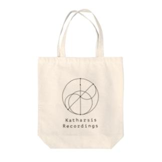 Katharsis Black Logo Tote bags