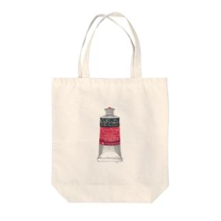 絵の具・赤 Tote bags