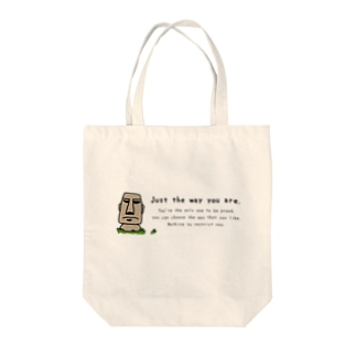 Just the way you are_moai_2 Tote bags