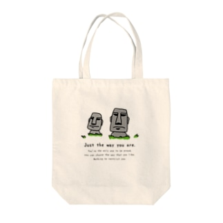 Just the way you are_moai_3 Tote bags