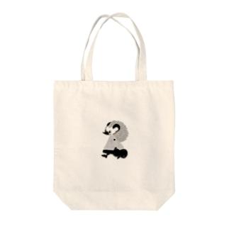 はりねずみの男の子(白黒) Tote bags