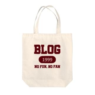 ブログ(えんじ) Tote bags